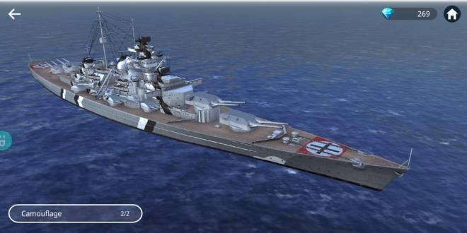 Warship Fleet Command: General - Bismarck's cammo image 2