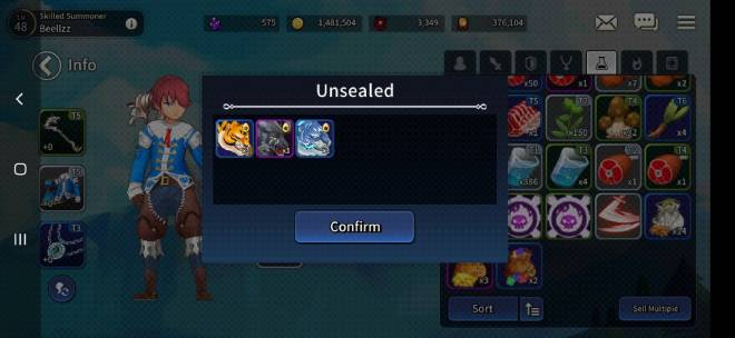 Taming Master: Q&A - i got free 13 sikan box from update and got this. Is this lucky or guaranteed?  image 2