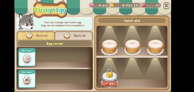 My Secret Bistro:  - Bugs & Issues - cannot hatch the egg image 2