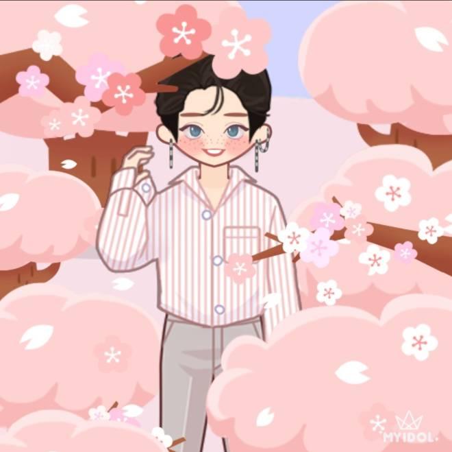 MYIDOL_GLOBAL_COMUUNITY: MYIDOL_PHOTO - cherry blossoms image 2