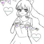 塗り絵大会!!イラスト・鶴姫!!「鶴姫の塗り絵大会」で投稿してね、!やってね!!!!お願い!!やんないと泣く!